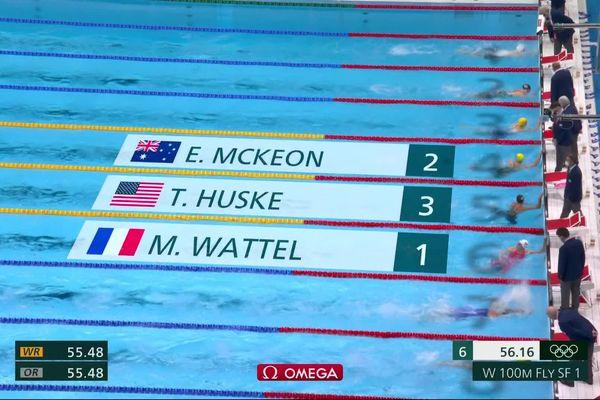 Marie Wattel se qualifie pour la finale du 100m papillon en améliorant le record de France !