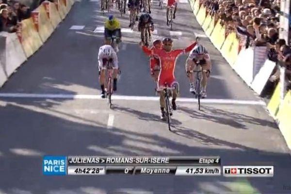 Nacer Bouhanni a pris sa revanche ce jeudi après son déclassement dans la 2e étape.