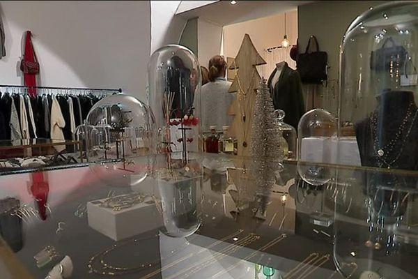 Un commerce de Montpellier décoré pour les fêtes de Noël 2018