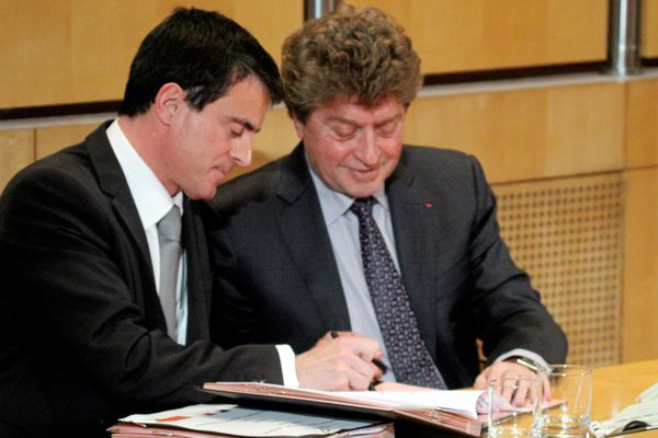 Manuel Valls et Damien Alary. Archives.