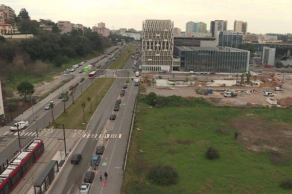 Depuis la mise en place de la Ligne 2 du Tramway, de plus en plus d'entreprises s'installent à l'ouest de Nice, du côté de l'Arénas et Nice Méridia