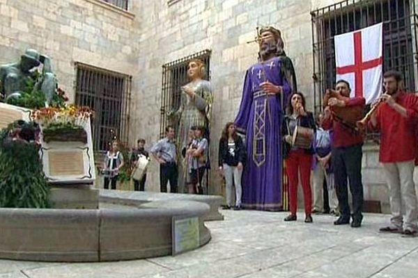 Perpignan - la célébration de la Sant Jordi - 25 avril 2015.