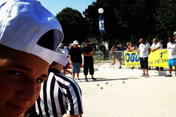 Tyson Molinas venu encourager son père avant d'aller sa partie contre Moraldo.