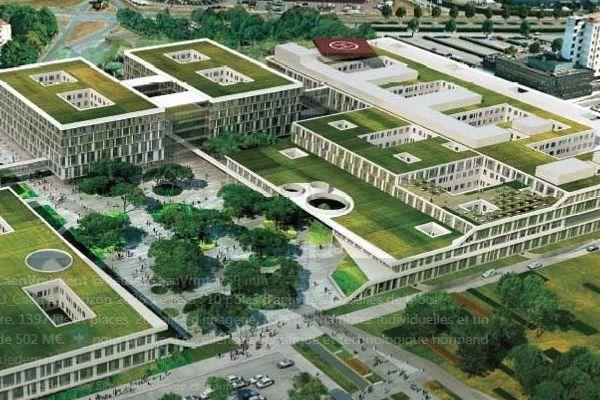 Ce futur hopital sera construit derrière le CHu actuel, qui lui sera détruit après l'ouverture du nouveau CHU.
