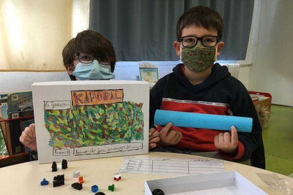 Règles du jeux, cahier des charges, nom, graphisme, les enfants ont créé leurs jeux de A à Z