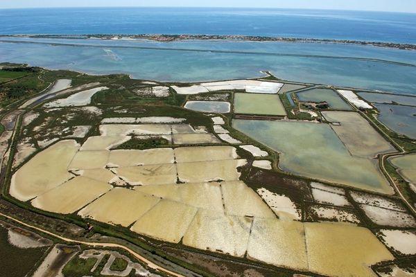 Hérault - Les salins de Frontignan ne sont plus exploités depuis 1968.