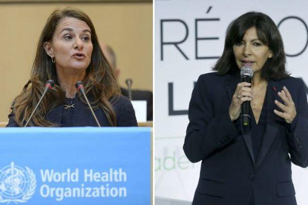 """Melinda Gates et Anne Hidalgo vont leur""""l'Appel de Paris"""", pour sensibiliser la communauté internationale à la nécéssité de lutter contre la mortalité maternelle et infantile dans le monde."""