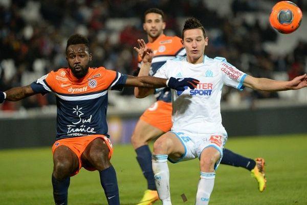 Florian Thauvin lors du match contre Montpellier vendredi dernier au stade Vélodrome.