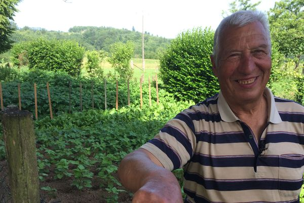 Lucien Monzauge passe sa retraite au jardin