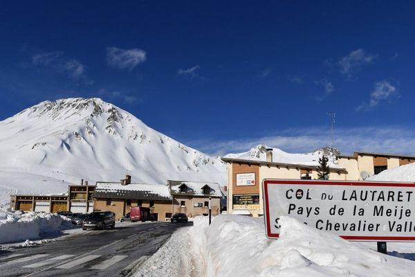 Le col du Lautaret sous la neige le 5 janvier 2018.