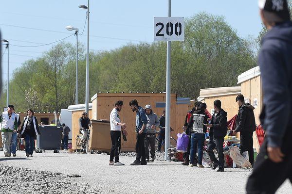 Le camp de migrants de Grande-Synthe.