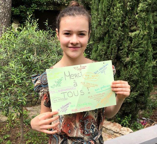 Margot, élève de 3ème collège Monod de Clarensac (Gard)