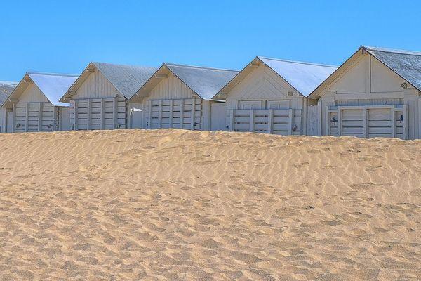 Les cabines de plage de Ouistreham