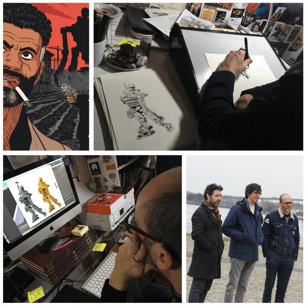 Dans l'atelier d'Hervé Tanquerelle en 2019