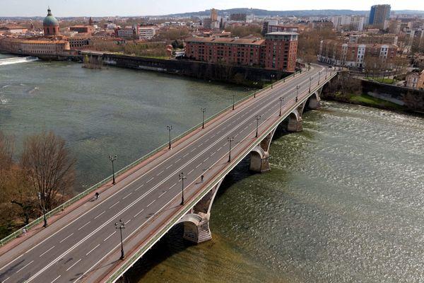 Toulouse en mars 2020 durant le confinement.