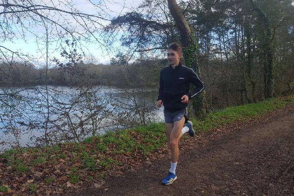 Maël Gouyette, en entraînement