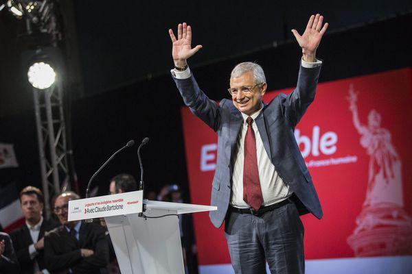 Claude Bartolone, lors d'un meeting de campagne pour les élections régionales 2015.