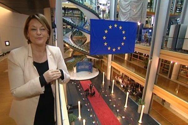 Nathalie Griesbeck au Parlement Européen à Strasbourg en décembre 2013