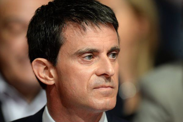 Le Premier ministre Manuel Valls 6 juin 2015  AFP PHOTO / JEAN-PIERRE MULLER