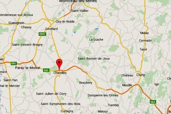 Un grave accident de la circulation a fait plusieurs blessés sur la RCEA à Charolles, en Saône-et-Loire, vendredi 21 août 2015.