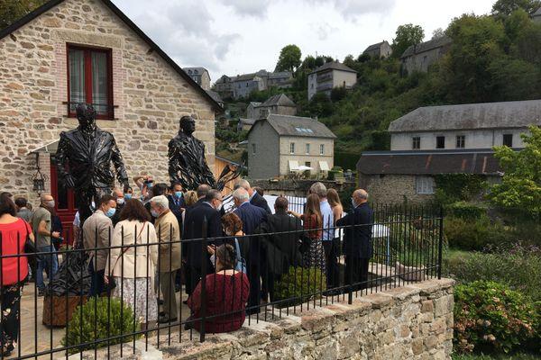 Inauguration des statues à Treignac