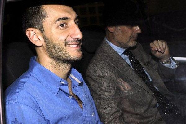 Dragan Gajic, joueur du MAHB à sa sortie du palais de justice - 2 octobre 2012