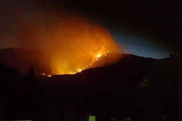 Incendie dans le secteur de Padern
