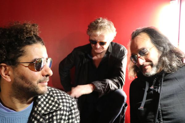 The Mademoiselle group: from left to right Sofiane Saidi, Rodolphe Burger and Mehdi Haddab