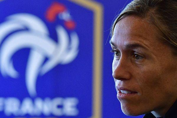 Camille Abily lors de l'Euro 2017 de football féminin le 27 juillet 2017