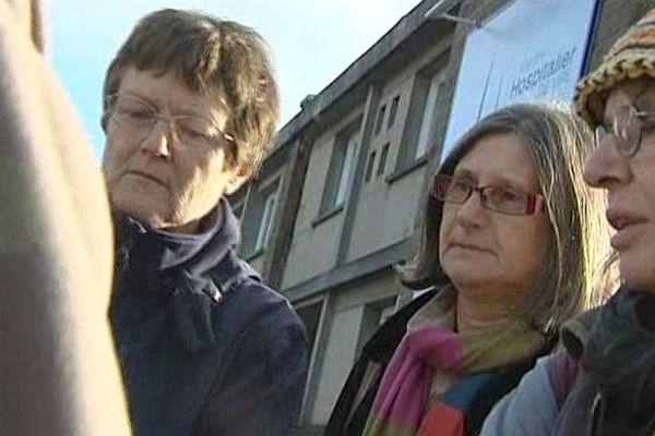 Des membres du Collectif qui défend la maternité de Vire, 11 janvier 2013