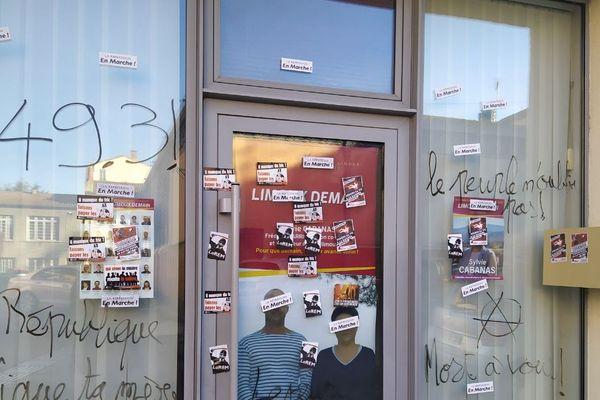 La permanence vandalisée à Limoux.