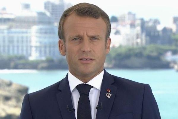 Emmanuel Macron s'est adressé aux Français depuis Biarritz