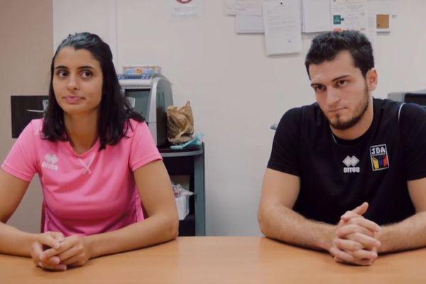 Joanna Lathoud et Axel Julien, les deux capitaines de la JDA Dijon.