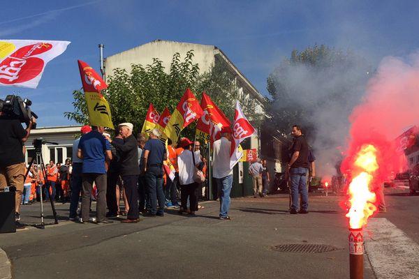 Manifestation SNCF à Saintes