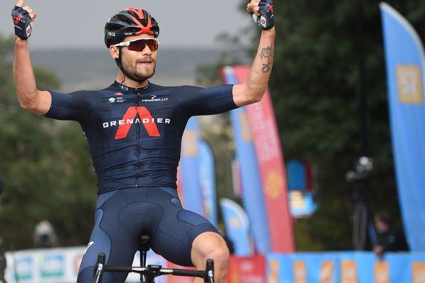 Avec une tunique arc-en-ciel et quatre étapes du Giro, 2020 fut l'année de sa révélation. Vainqueur d'une étape de l'Étoile de Bessèges ce 6 février, Filippo Ganna montre qu'il faudra compter sur lui en 2021.