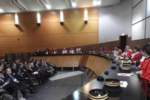 Audience solennelle de rentrée de la cour d'appel de Poitiers, le vendredi 11 janvier 2019