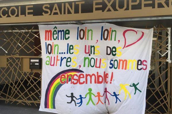 Image d'illustration. Devant l'école Saint-Exupere dans le quartier Saint-Michel à Toulouse.