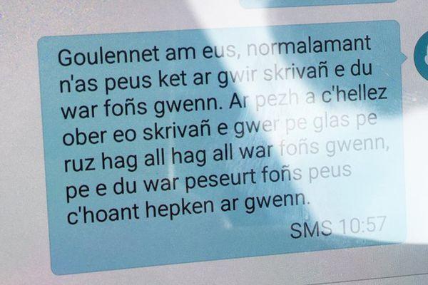 Un extrait de l'échange entre un collaborateur et son député, en Breton !