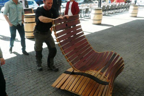 « Dowell Collection » le fauteuil à base de barriques par Rémi Denjean