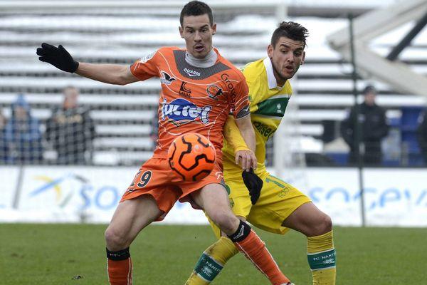 Nantes Laval en janvier 2013, les deux clubs évoluaient en ligue 2 à l'époque.