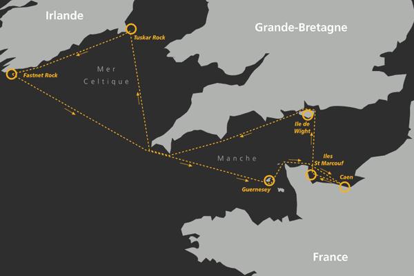 Le parcours de la Normandy Channel Race 2016