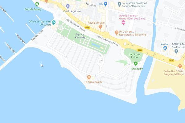 Parking de l'Esplanade à Sanary-sur-Mer