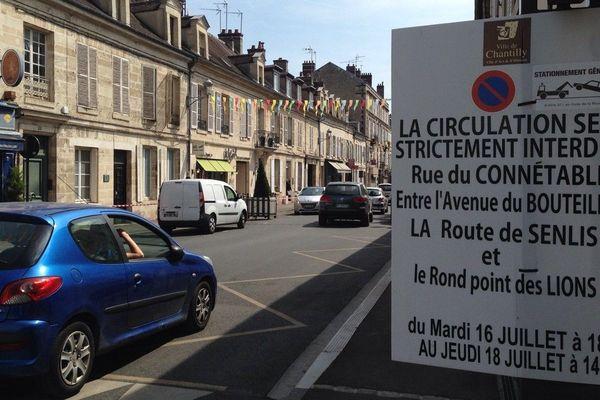Restriction de la circulation à Chantilly durant le G7 Finances