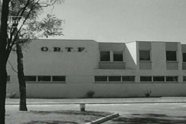 Site de l'ORTF à Orléans la Source le 2 août 1971