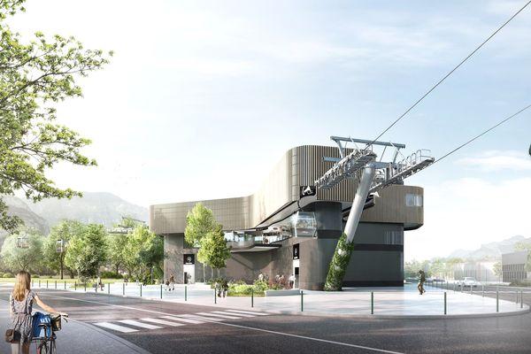 Le transport par câble de l'agglomération grenobloise doit être inauguré en 2024.