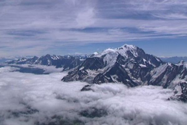 Vue aérienne du Mont-Blanc