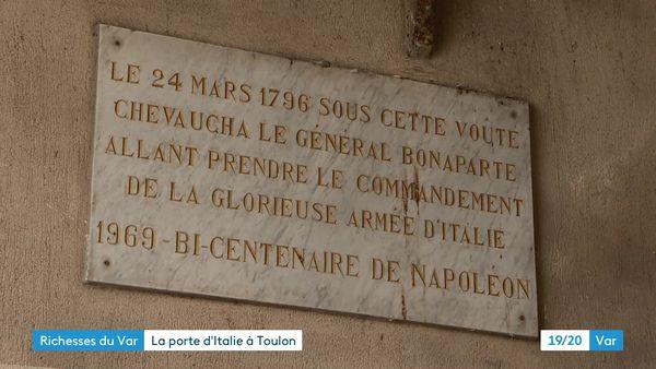 La plaque Bi-centenaire de Napoléon en 1969.