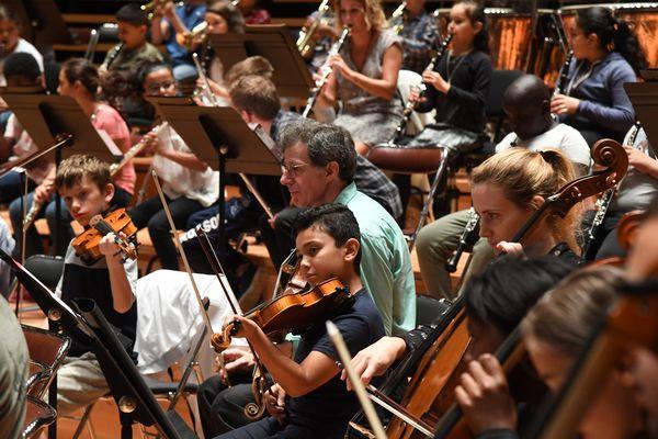 Photo d'illustration. Projet Demos dans le Nord, des enfants préparent un concert qu'ils interpréteront à Paris.