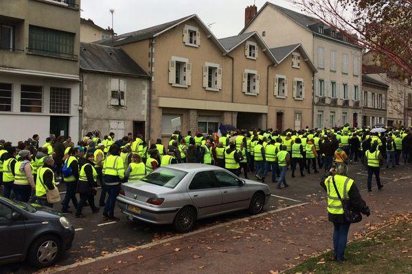 Manifestation des Gilets jaunes à Limoges le 24 novembre 2018