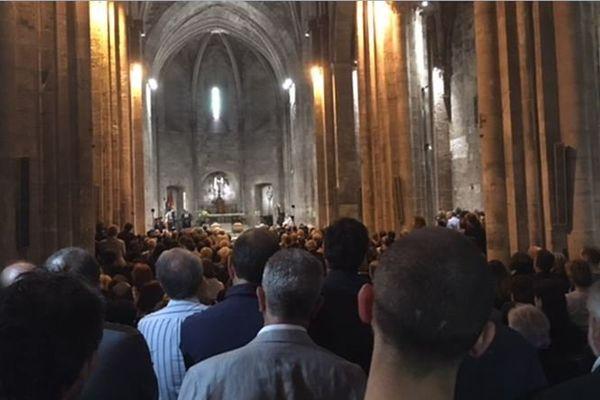 Obsèques du docteur Franceschi et de son épouse en l'église Saint-Victor à Marseille.